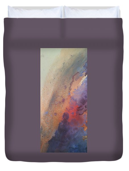 Facing Her Demons Duvet Cover by Becky Chappell
