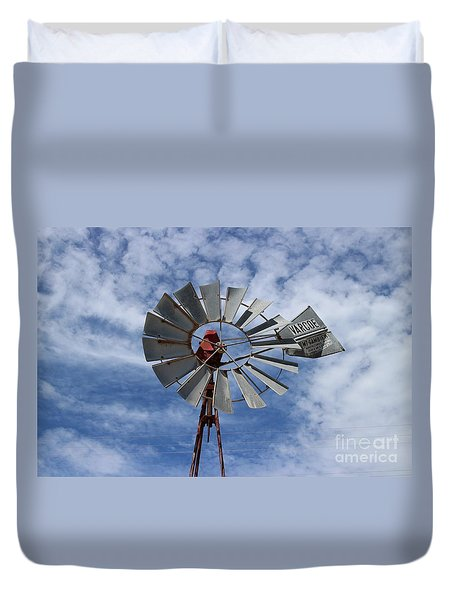 Duvet Cover featuring the photograph Facing Into The Breeze by Stephen Mitchell