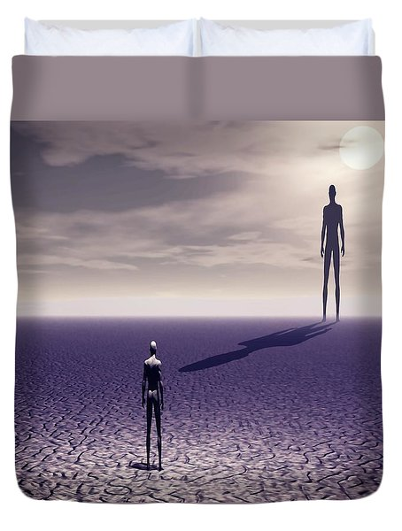 Facing The Future Duvet Cover