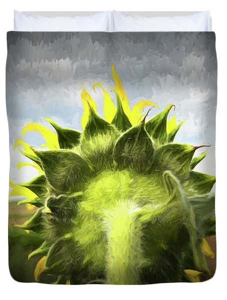 Facing The Day Duvet Cover