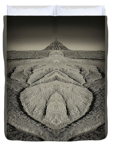 Factory Butte Digital Art Duvet Cover