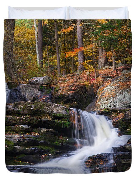 Duvet Cover featuring the photograph Factory Falls 2 by Mark Papke