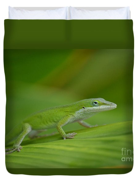 Fade Into The Green Duvet Cover