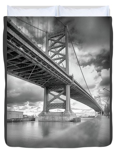 Fade To Bridge Duvet Cover