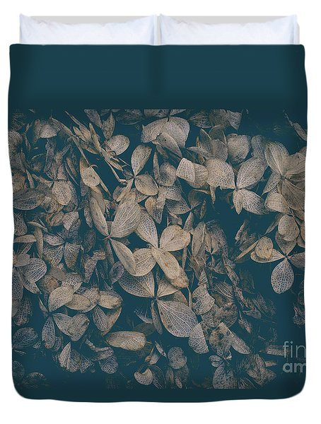 Duvet Cover featuring the photograph Faded Flowers by Edward Fielding