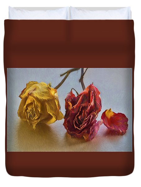 Faded Flowers Duvet Cover