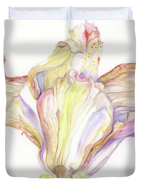 Faded Hibiscus Duvet Cover