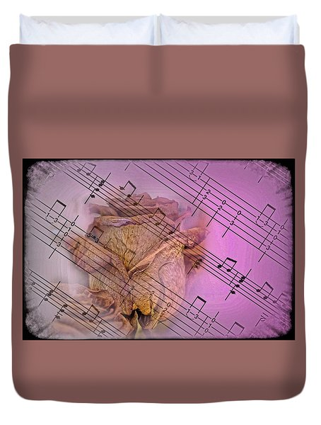 Faded Music Duvet Cover