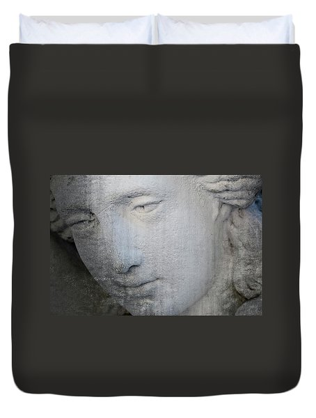 Faded Statue Duvet Cover
