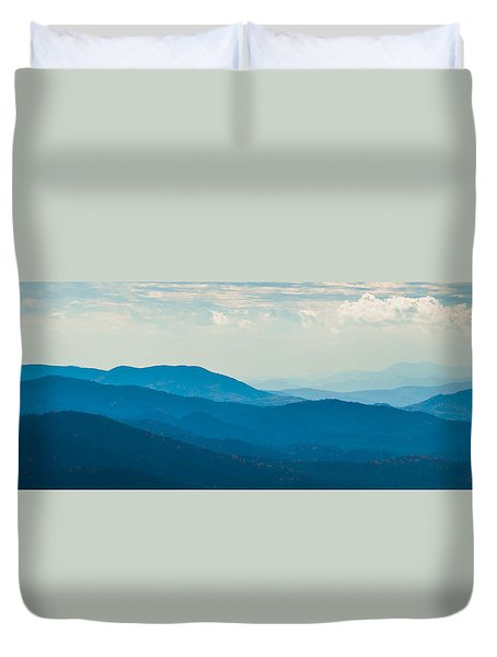 Duvet Cover featuring the photograph Fading Appalachians by Rob Hemphill