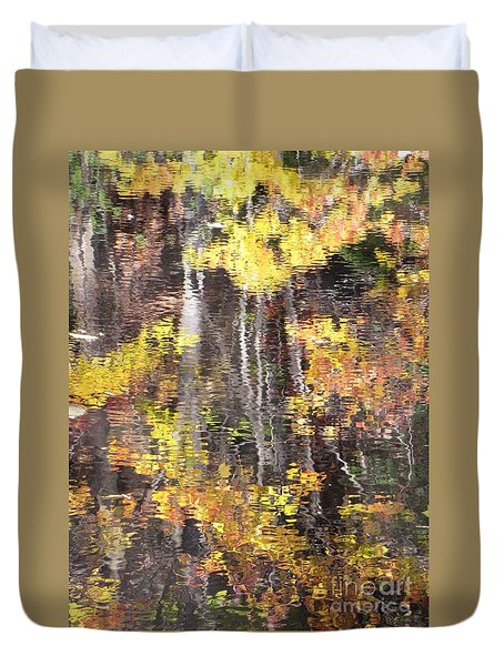 Fading Fall Water Duvet Cover