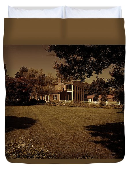 Duvet Cover featuring the photograph Fading Glory - The Hermitage by James L Bartlett
