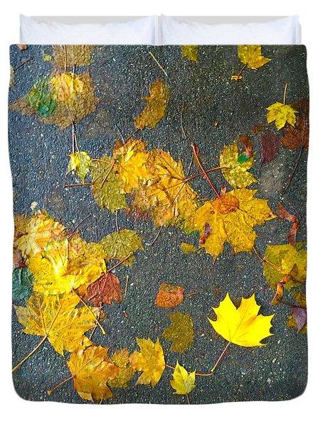 Fading Leaves Duvet Cover