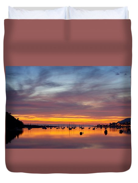 Fading Light, Conwy Estuary Duvet Cover