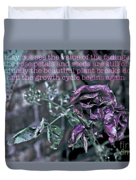 Fading Rose Duvet Cover by Sandy Moulder