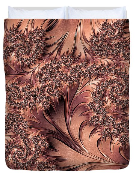 Duvet Cover featuring the digital art Faerie Forest Floor I by Susan Maxwell Schmidt