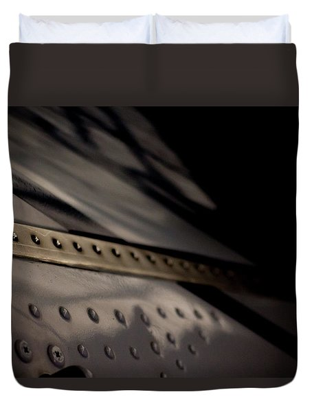 Duvet Cover featuring the photograph Faiding Away by Paul Job