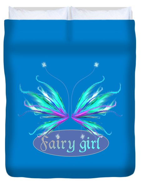Fairy Girl Feathery Wings Duvet Cover