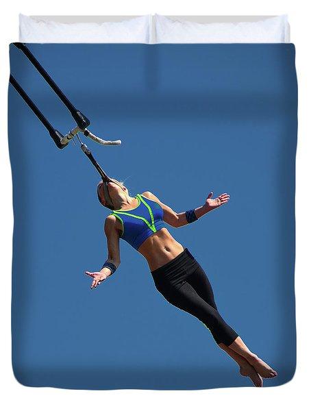 Fair Stunt Duvet Cover by Mike Martin
