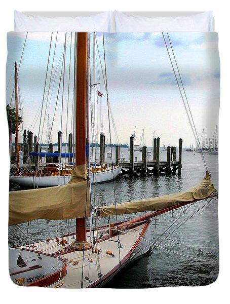 Fair Weather Annapolis  Duvet Cover