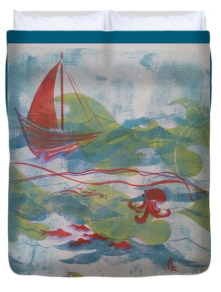 Fair Winds Calm Seas Duvet Cover by Cynthia Lagoudakis