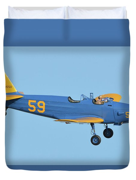 Fairchild Pt-19a N11cm Chino California April 29 2016 Duvet Cover by Brian Lockett