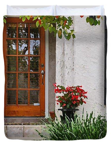 Fairhope Doorway Duvet Cover by Michael Thomas