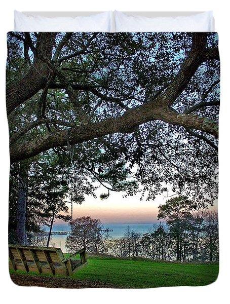 Fairhope Swing On The Bay Duvet Cover