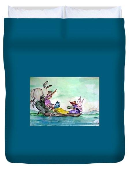 Fairies At Sea Duvet Cover