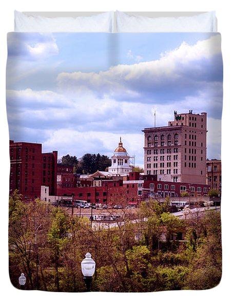 Fairmont West Virginia Duvet Cover by L O C