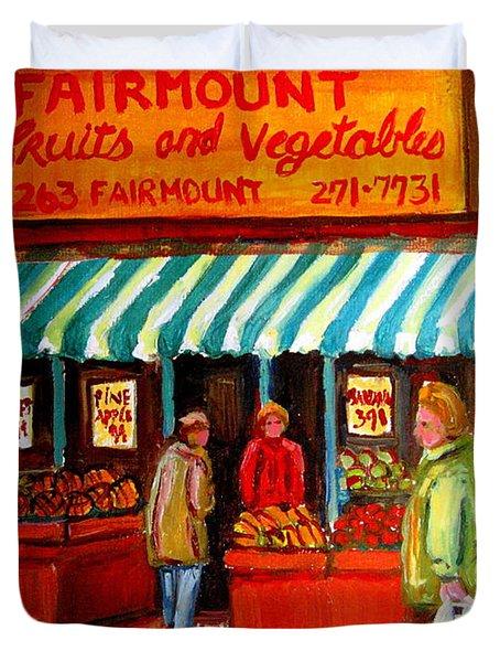 Fairmount Fruit And Vegetables Duvet Cover by Carole Spandau