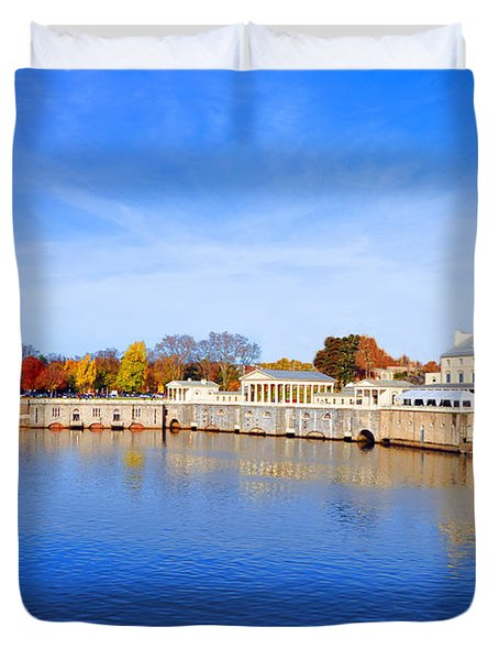 Fairmount Water Works - Philadelphia Duvet Cover by Bill Cannon