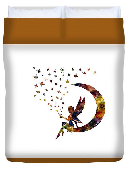 Fairy And Stars Duvet Cover