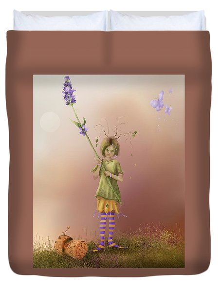 Fairy Bella Lavender Duvet Cover