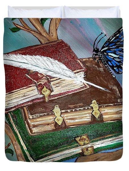 Fairy Books Duvet Cover