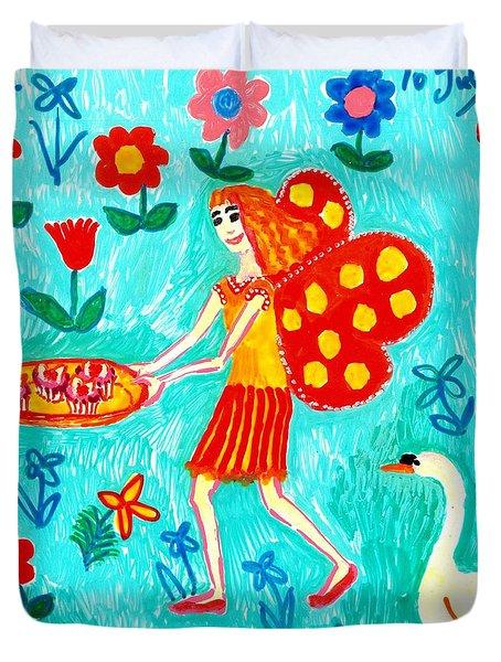 Fairy Cakes Duvet Cover by Sushila Burgess