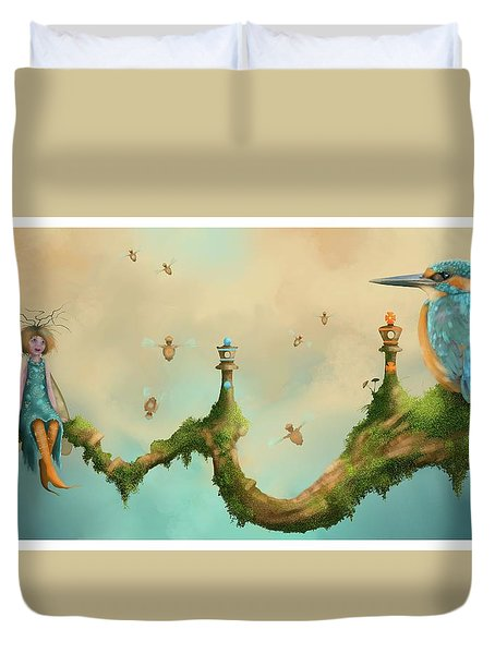 Fairy Chess Duvet Cover