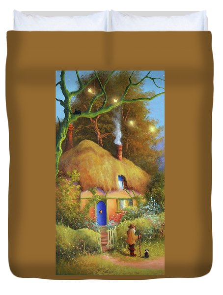 Fairy Cottage Duvet Cover