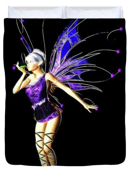 Fairy, Digital Art By Mb Duvet Cover
