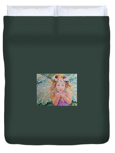 Fairy Dust Duvet Cover by Nicole Gelinas