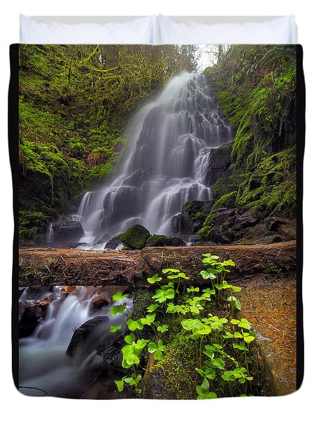 Fairy Falls In Spring Duvet Cover by David Gn