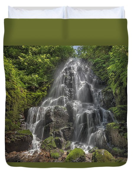 Fairy Falls On A Sunny Day Duvet Cover by David Gn