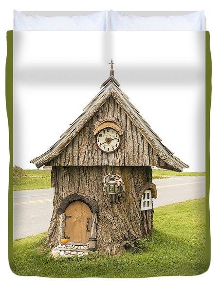 Fairy House In Vermont Duvet Cover