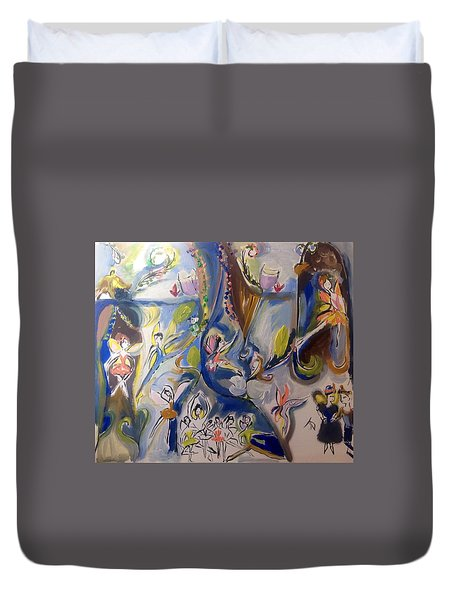 Fairy Land Celebrates Duvet Cover by Judith Desrosiers
