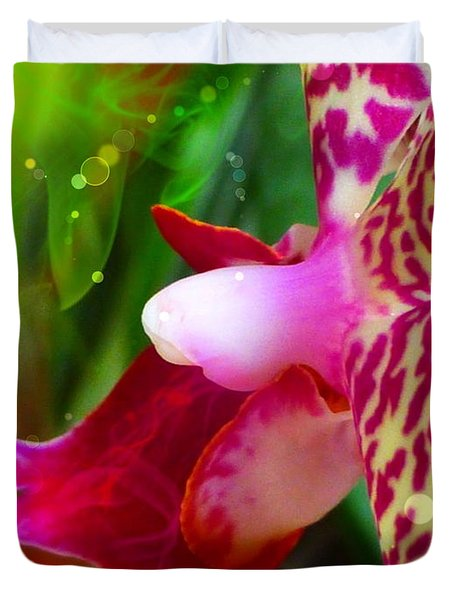 Fairy Orchid Duvet Cover