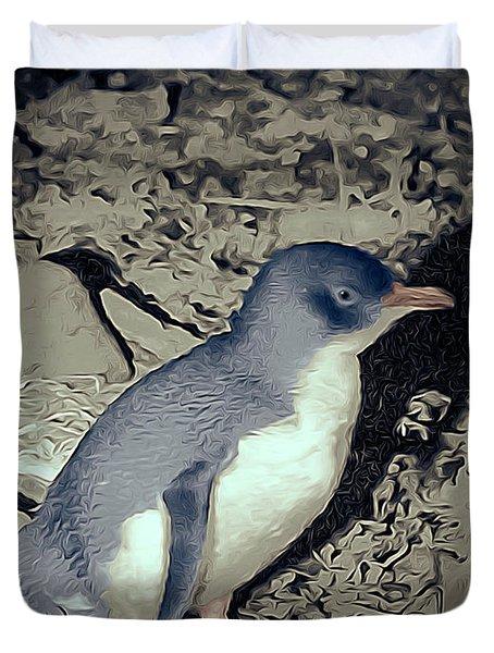 Fairy Penguin Tasmania Duvet Cover