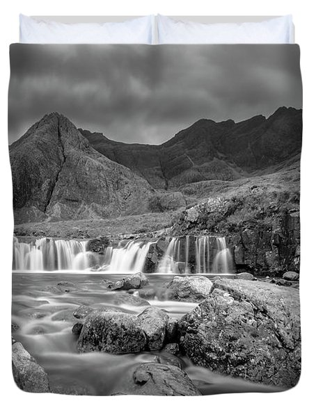 Fairy Pools Waterfall Duvet Cover
