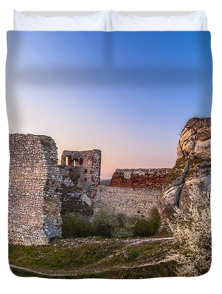 Fairy Tale Castle Remnants Duvet Cover by Julis Simo