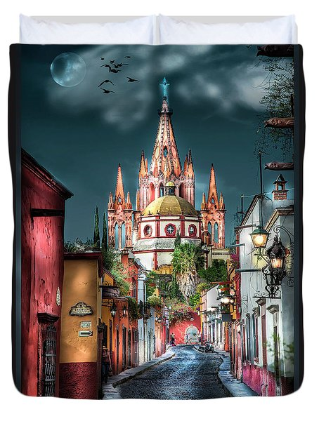 Fairy Tale Street Duvet Cover