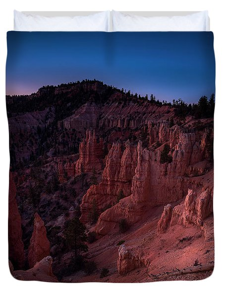Duvet Cover featuring the photograph Fairyland Canyon by Edgars Erglis